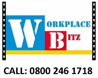 Workplacebitz logo and link to online store. Call 0800 246 1718